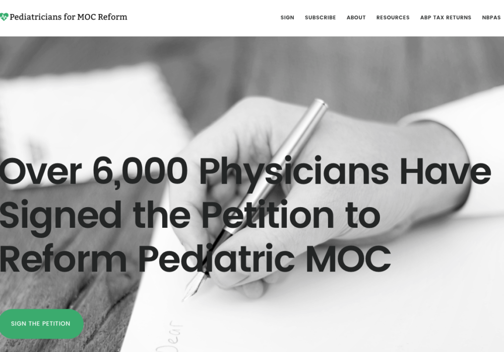New Peds4MOC Reform Website is Live